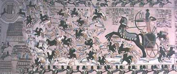 A depiction of the Battle  of Kadesh