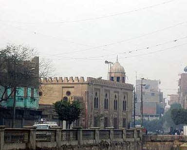 The Qaitbey Mosque in the Fayoum is located just next to a bridge in Fayoum City