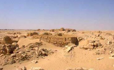 A view of the ancient town of Dionysias in the Fayoum of Egypt