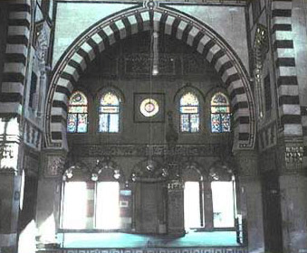 Interior view of north iwan