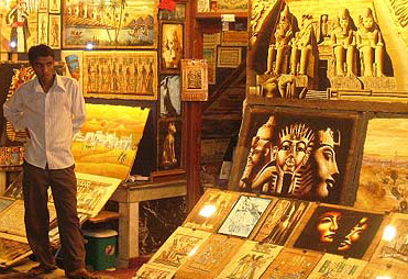 A papyrus art store in the Khan el-Khalili