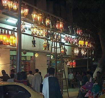During Ramadan, stores are full of Ramadan Lanterns