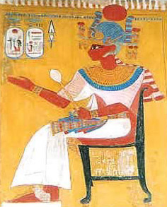 Painting of Iset-Nofret, one of Ramesses II's main queens.