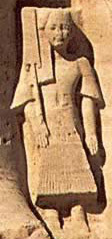 One of Ramesses II's sons at Abu Simbel