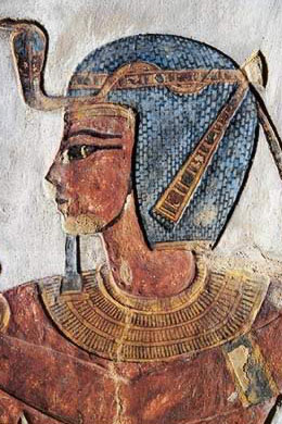 A depiction of Ramesses III from his tomb on the West Bank at Thebes