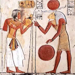 Drawings in  The Tomb of Ramesses IX in the West Bank of Luxor