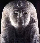 The head of a statue of Ramesses II's mother, Tuya
