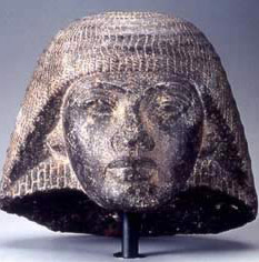 Probable carved,  granodiorite head of Ramesses prior to his accession to the throne