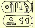 The cartouches of  Ramesses I