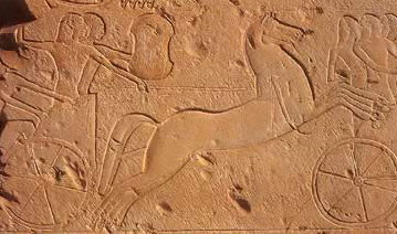 A chariot scene from the Battle of Kadesh