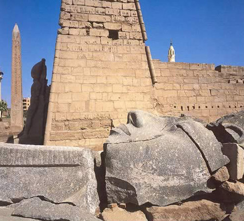 Ramesses II Colossus at the First Pylon of Luxor Temple