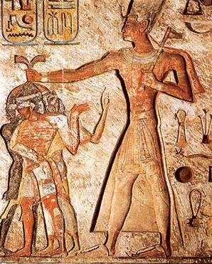 Ramesses II smites his enemies with a battle ax