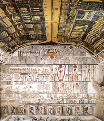 Inside the Tomb of Ramesses VI in the Valley of the Kings at the West Bank of Luxor