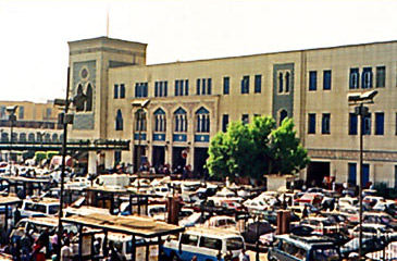 A view of the train station at Ramses Square