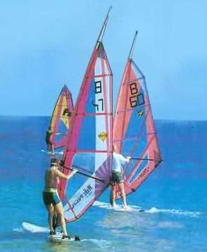 Sail Boarding at Ras Sidr