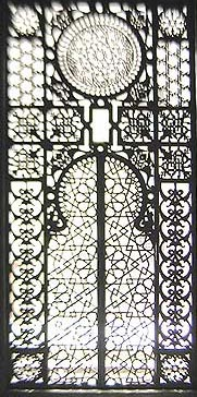 One of the wonderful  Mashrabiyya screens within the mosque