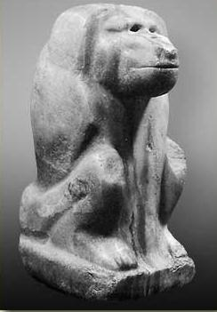 "The ""Great White"", an early baboon god from the Late predynastic Period"