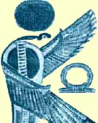 A Winged Renenutet, Offering the Symbol of Eternity