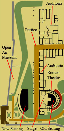 Ground plan of the Roman Theatre Complex