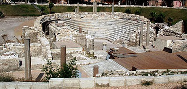 An overall view of the Roman Theatre in Alexandria, Egypt