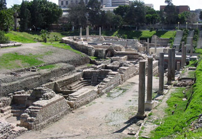 Some of the Auditoria leading off of the Roman Theatre in Alexandria