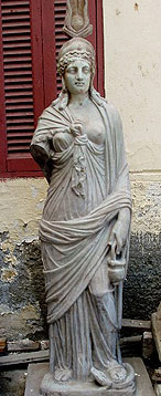 A Greaco-Roman era Statue of Isis in the Open Air Museum