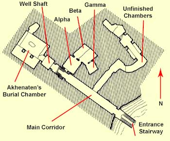 Plan of the Royal Tomb at Amrna
