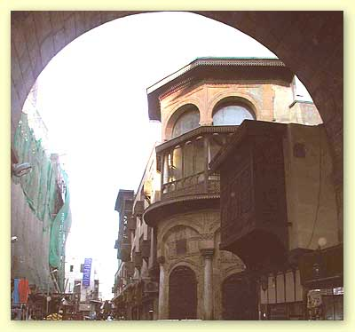View of Sabil Nafisa al-Bayda through the passageway of Bab Zuweila