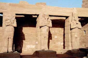 The Last Court With the Osirion Statues of Ramesses II