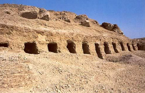 Saff (row) Tombs on the West Bank at Luxor