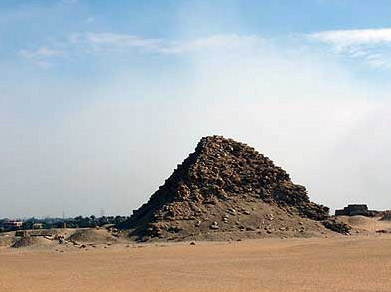 A side view of the Pyramid of Sahure at Abusir