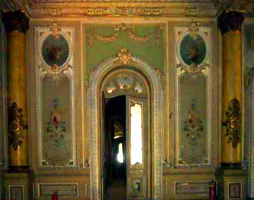 Entrance to the dining room of hte palace