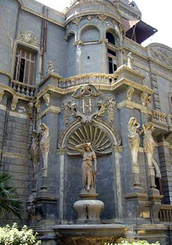 View of Palace Details, statues on the exterior