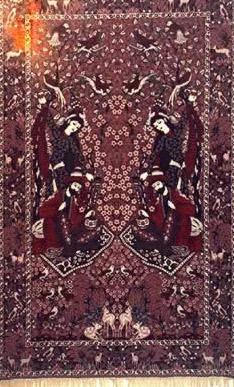 Oriental carpet at the Salamlek hotel