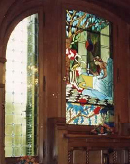 Salamlek hotel stained glass windows