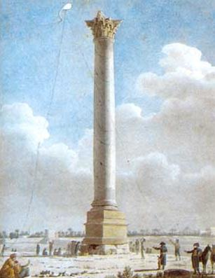 Watercolor by Vivant Denon of Pompay's Pillar