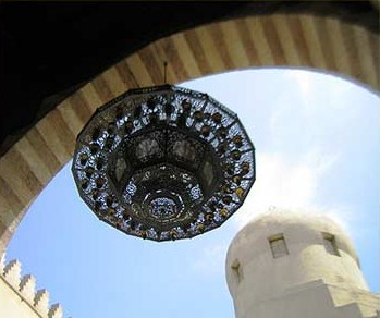 One of the beautiful lanterns in the Madrasa of Sarghatmish