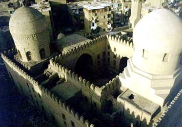 A view of the Sarghatmish Madrasa from above