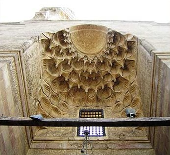 Stalactites above the portal of the Sarghatmish madrasa