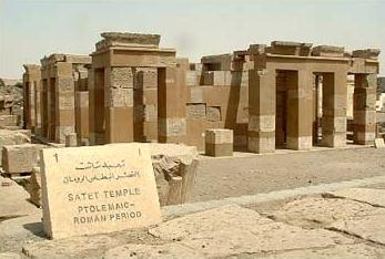 The reconstructed temple of Satis at Elephantine