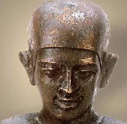 If Egypt had early scientists, than certainly Imhotep was one of them, in his capacity as doctor, architect and high priest. It was he who is credited with building Egypt's first pyramid