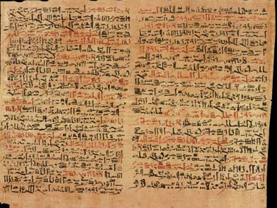The Edwin Smith Surgical Papyrus was an extensive text pertaining to the field of medicine