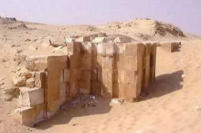 Part of the Mortuary temple of  King Sekhemkhet's Pyramid at Saqqara in Egypt