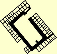 Floorplan of the Tomb U at Abydos belonging to King Semerkhet