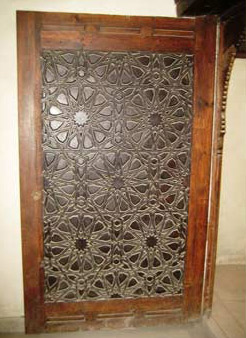 One of the beautiful ornate doors