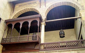 The balcony overlooking the sahn