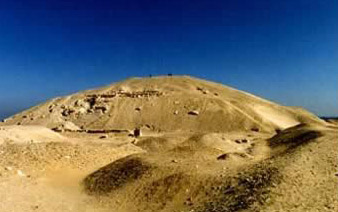 A view of the Pyramid of Senusret I at Lisht