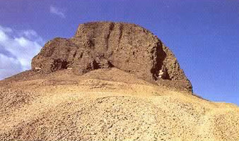 A view of the Pyramid of Senusret II at Lahun in Egypt
