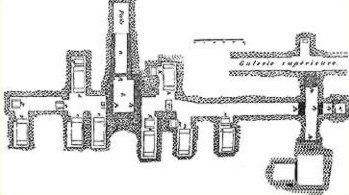 Northern Tomb  Complex Layout in the Pyramid Complex of Senusret III