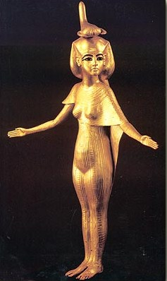 Golden Statue of Serqet from the Tomb of Tutankhamen